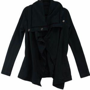 Lululemon size 4 black method wrap cardigan